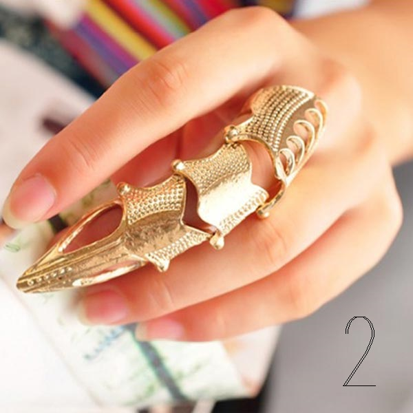Full Finger Nail Cover Ring outfitmade