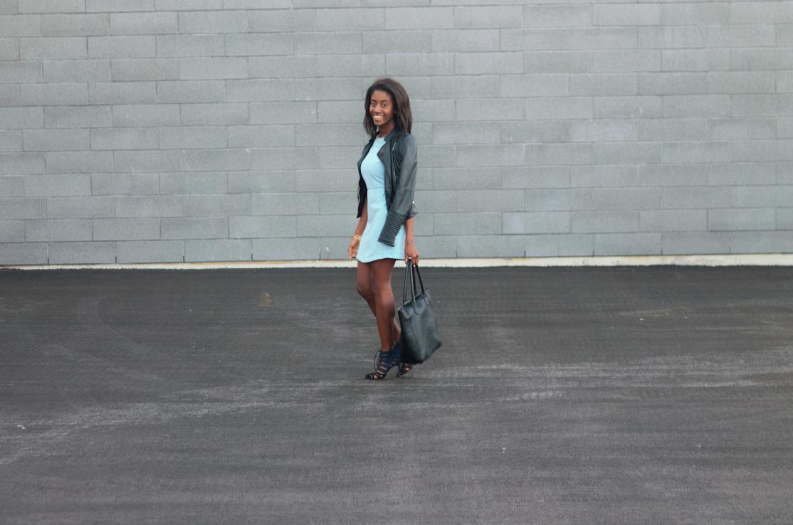 Blue Topshop dress