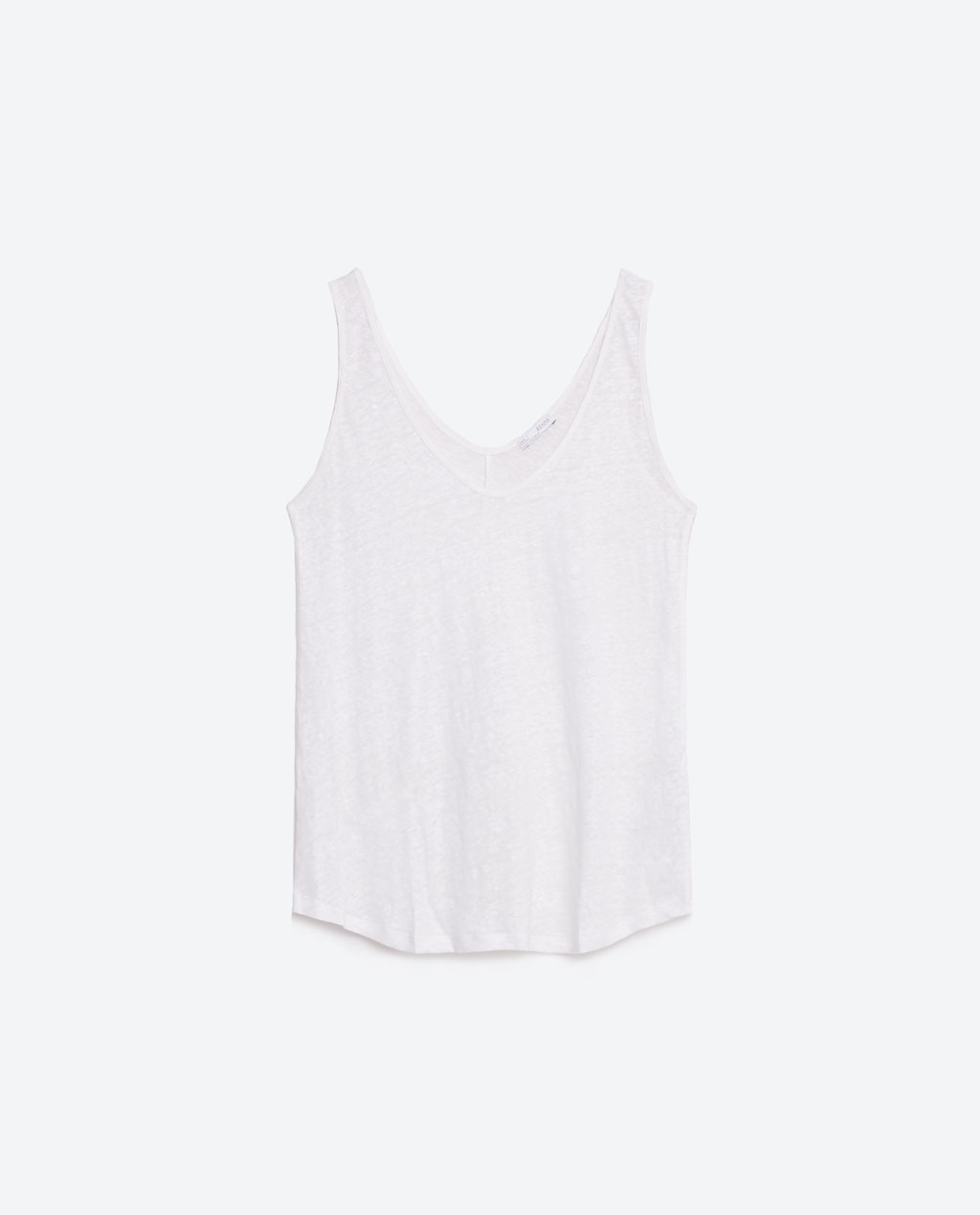 BASIC LINEN TOP ZARA