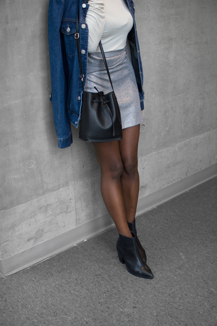 SILVER-ZARA-SKIRT,-WORN-TWO-WAYS,-HOW-TO-WEAR-ZARA-SKIRT