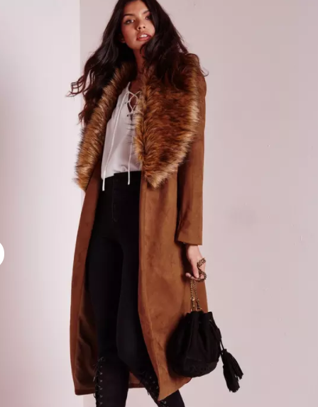 MISSGUIDED JACKET WITH FUR